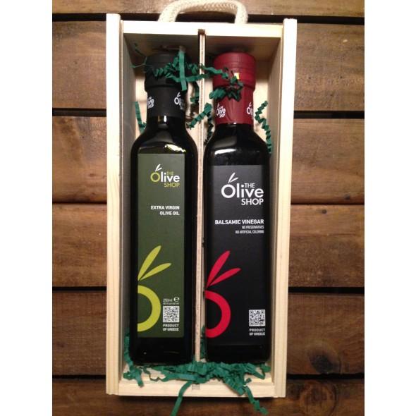 The Olive Shop Gift Box (EVOOx250ml + BVx250ml)