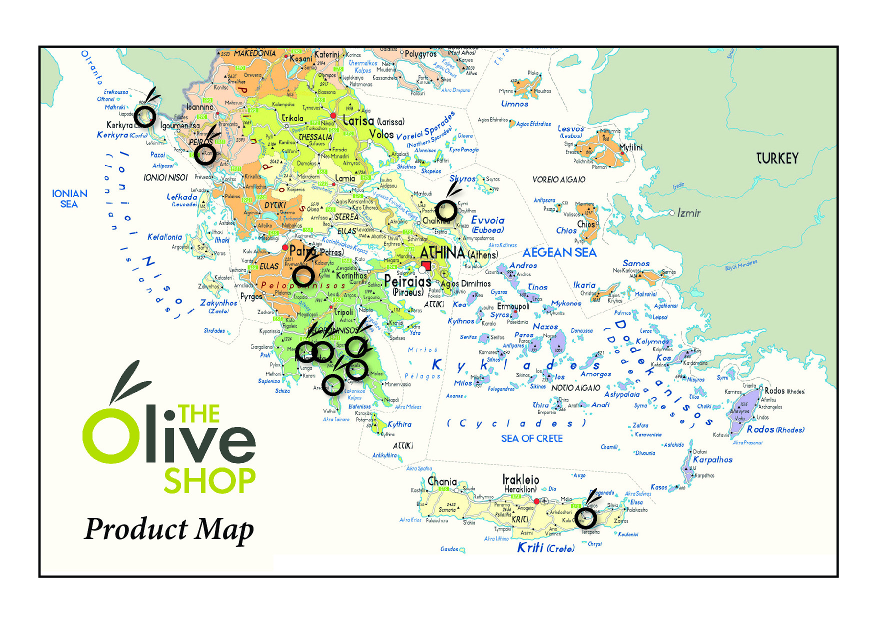 The Olive Shop Map