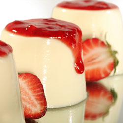Pannacotta with Strawberry Syrup